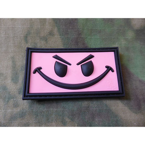 JTG - Evil Smile Patch, pink / 3D Rubber patch