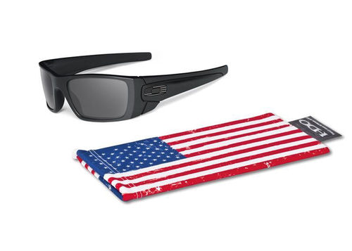 OAKLEY SI FUEL CELL Matte Black/Grey Tonal Flag (OO9096-29)