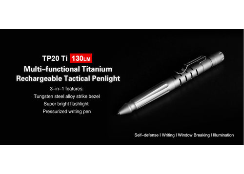 KLARUS TP20 Ti 3-in-1 Tactical Pen (130 Lumen)