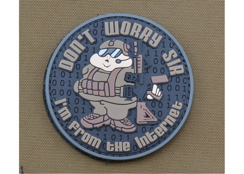 PVC PATCH 'DON'T WORRY SIR'