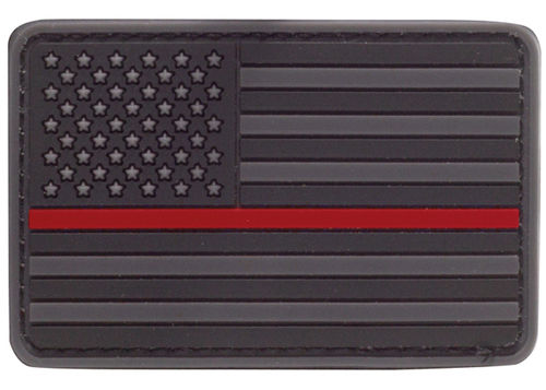 Condor RUBBER PATCH US FLAGGE THIN RED LINE