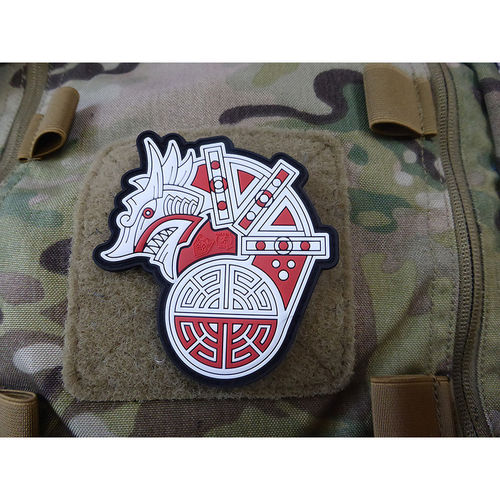 JTG Viking Dragon Ship Head Patch fullcolour