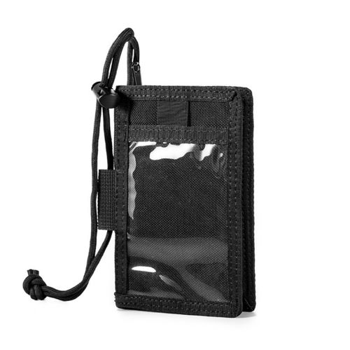 OneTigris MOLLE ID Wallet with Neck Lanyard and Key Ring