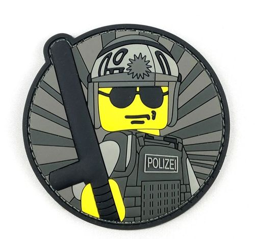 Yellow Police Guy Rubber Patch