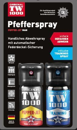 TW1000 Pepper-Jet Man 40 ml Twin-Pack inkl Trainingsspray