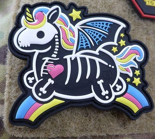 JTG Skeleton Unicorn Patch
